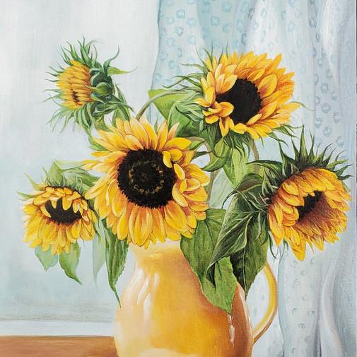 Sunflower Windowsill