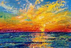 Sunset Ocean Palette Knife