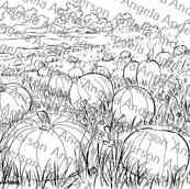 Pumpkin Patch Landscape Traceable