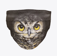 Dark Owl Face Mask