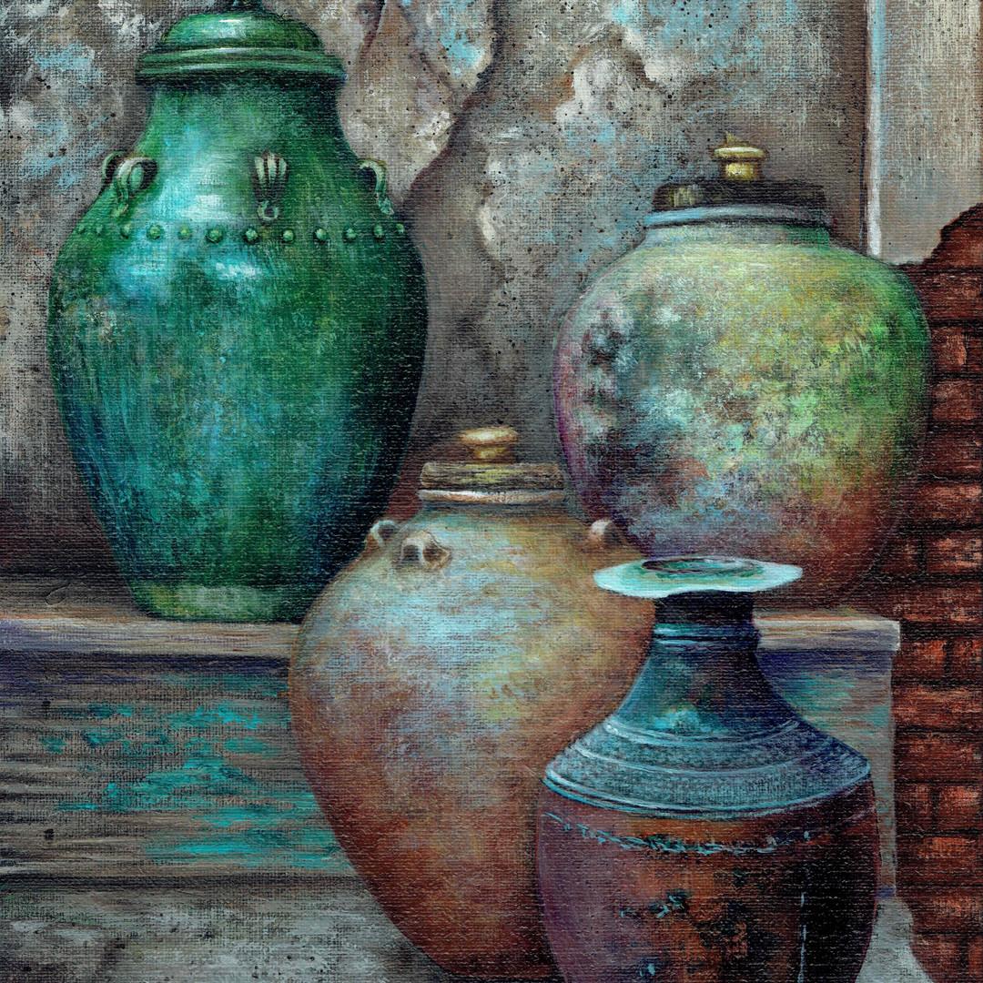 Vintage Rustic Urns