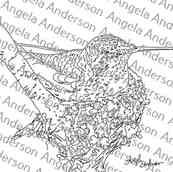 Gouache vs Acrylics Hummingbird Nest Traceable
