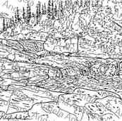 Mountain Stream Landscape Traceable