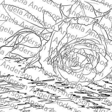 Pink Rose Love Letter Traceable