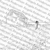 Hillside Cottage Landscape Traceable