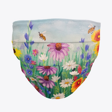 Wildflowers and Bees Face Mask