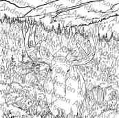 October's Challenge Tutorial - Moose Lanscape Traceable