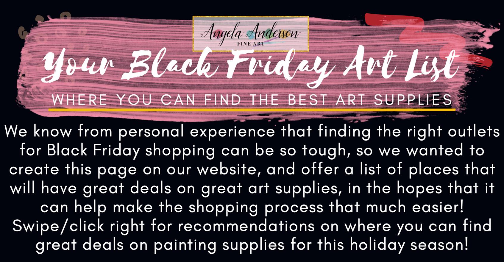 Black Friday Art List Intro