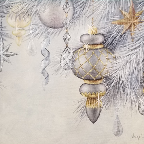 Silver and Gold Ornaments