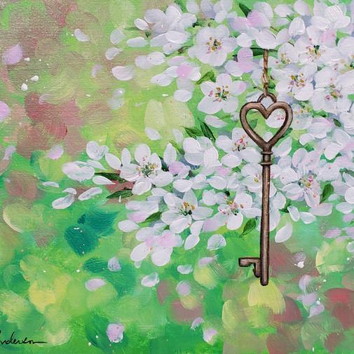 Floral Key Valentine's Day
