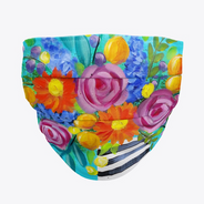 Boho Floral Face Mask