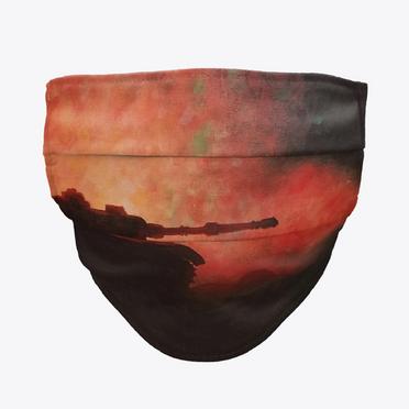 Fiery Tank Face Mask