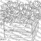 Floral Crate Tulips Traceable