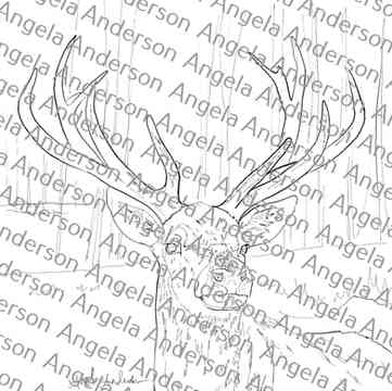 Winter Realistic Deer Stag Traceable