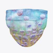 Purple Floral Face Mask