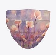 Peach Floral Face Mask