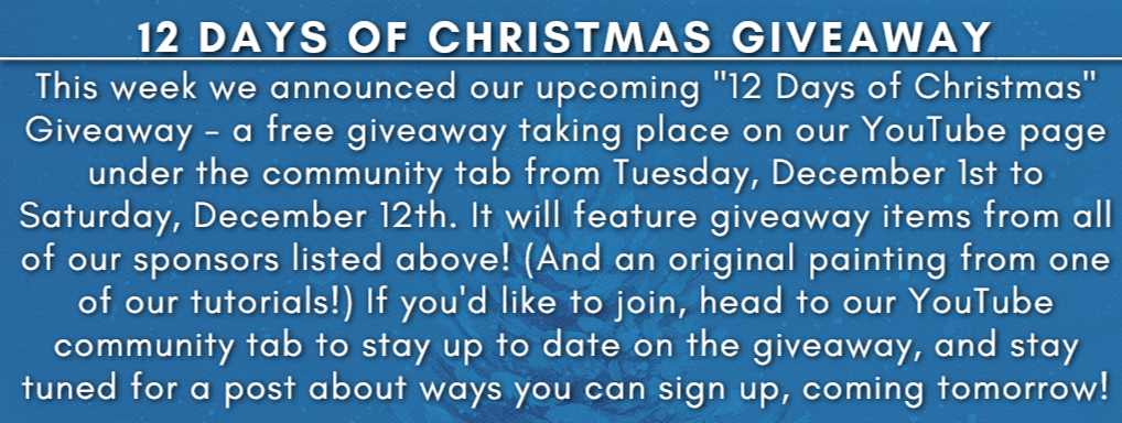 12 Days of Christmas Giveaway Info
