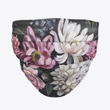 Dark Floral Face Mask