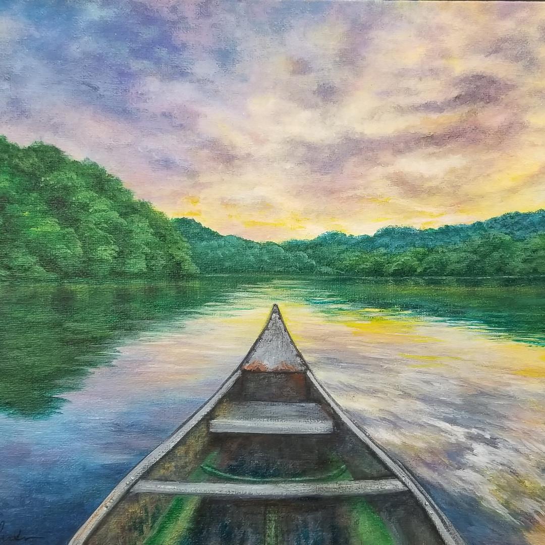 Sunset Boat Reflections
