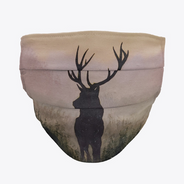 Stag Silhouette Face Mask