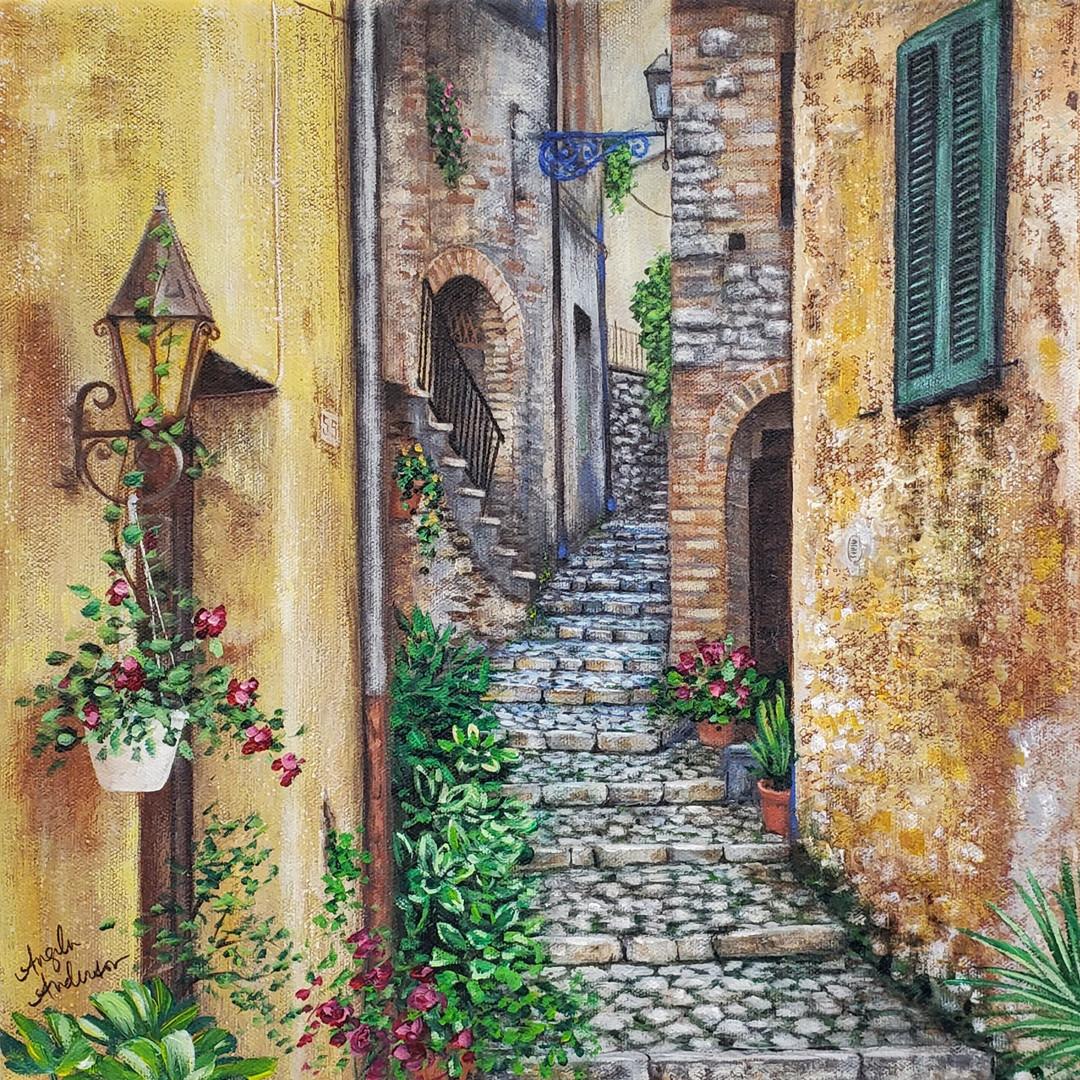 Old World Street Scene