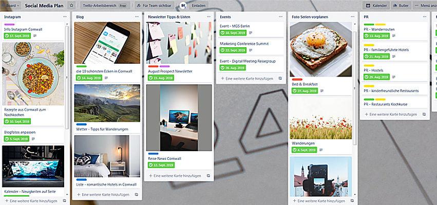 Service Social Media Plan erstellen