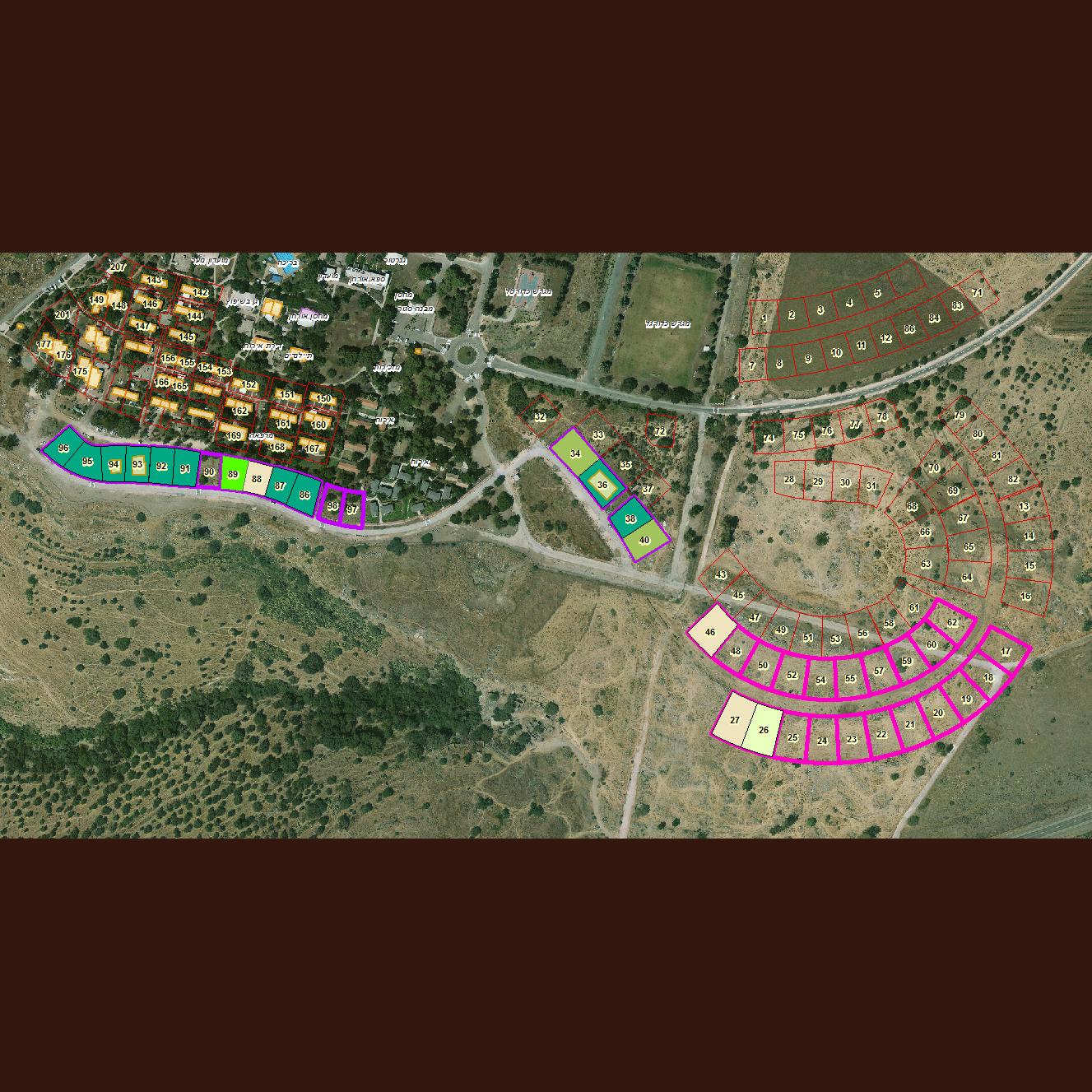 מפת סימון המגרשים