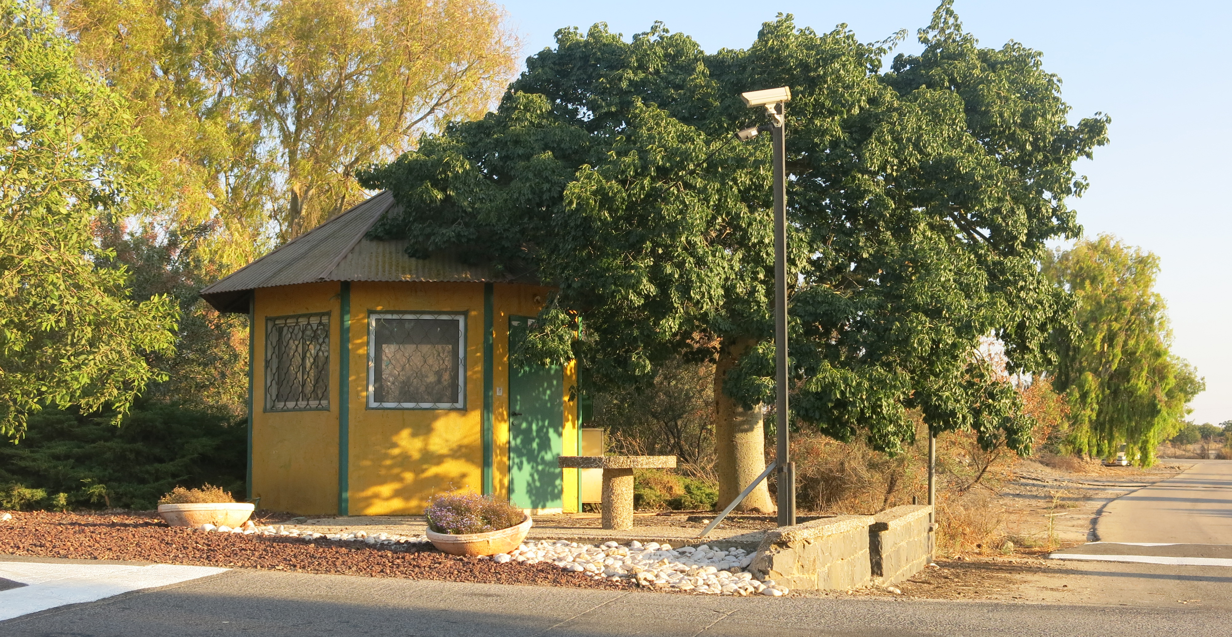 The guardhouse at the gate