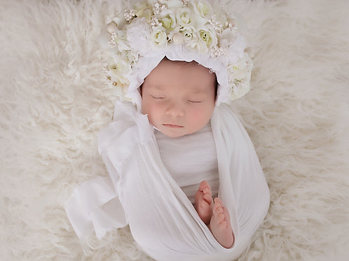 Newborn Flower bonnet