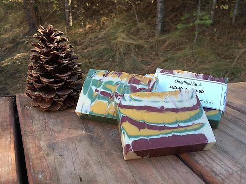 Cedar & Amber Soap