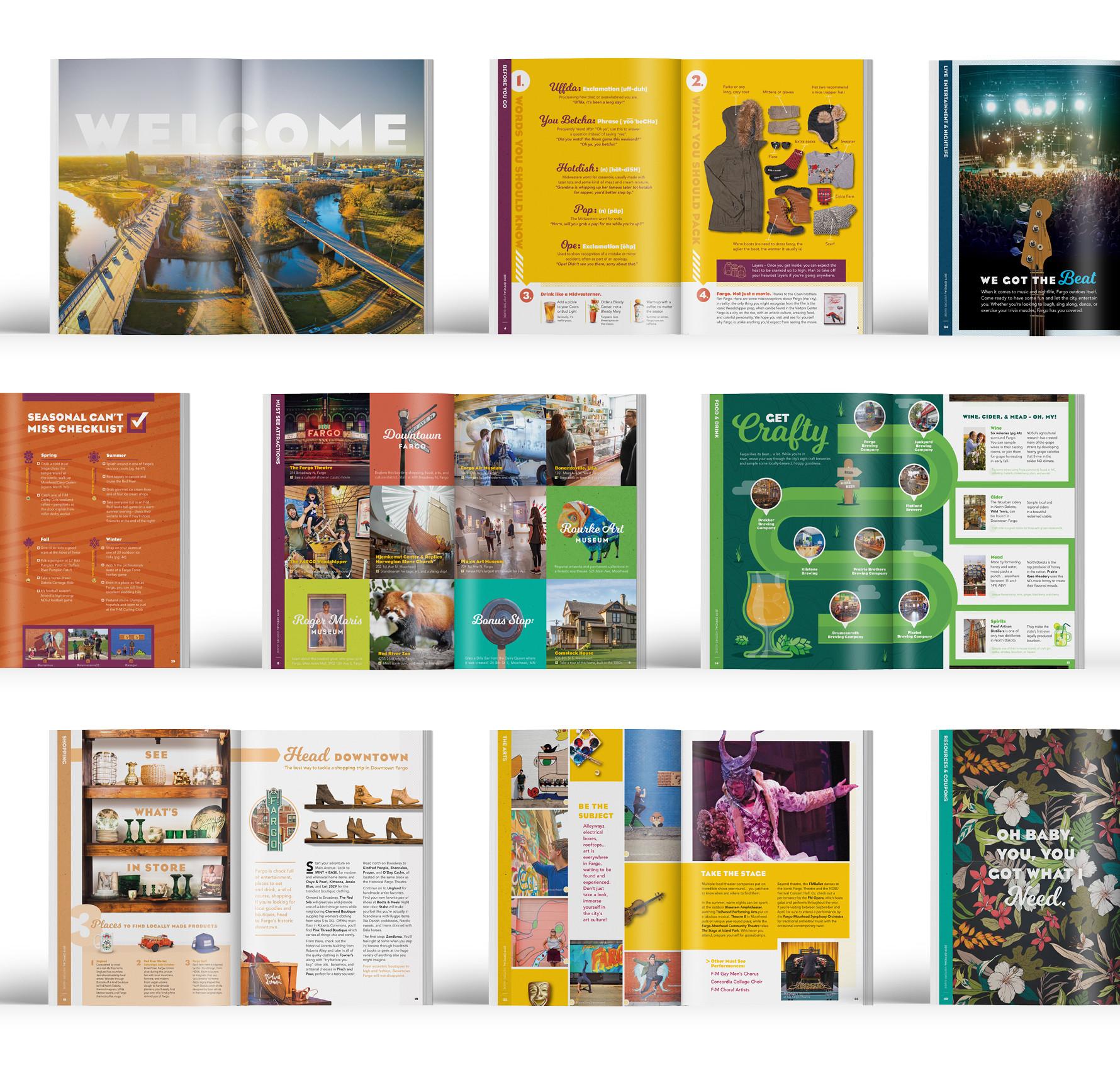 2019 Visitors Guide spread designs