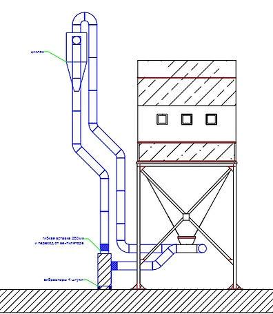 Пневмотранспорт, рукавный фильтр, Бункер для стружки, Аспирационная система, Аспирационная установка, Система аспирации, аспирация деревообработка, вентилятор пылевые, аспирация бу, оборудование для аспирации