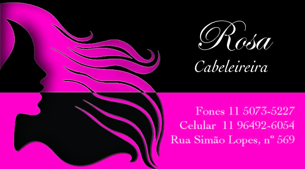 Cartão Rosa Cabeleireira