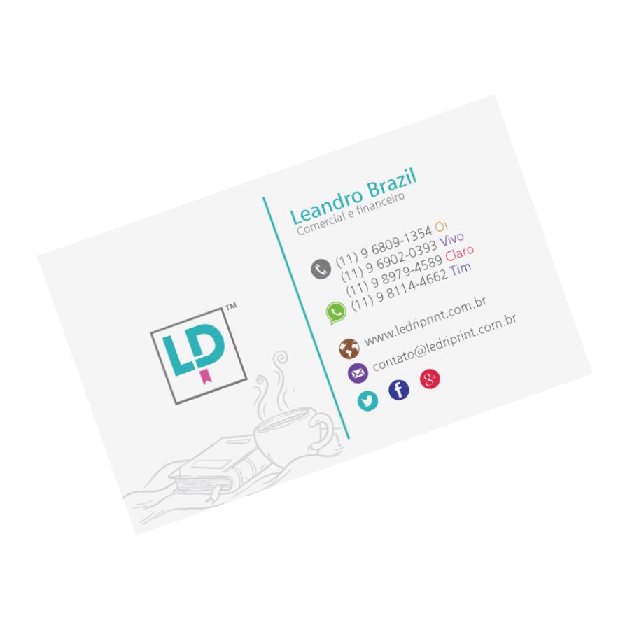 Cartão: Ledriprint verso, Leandro