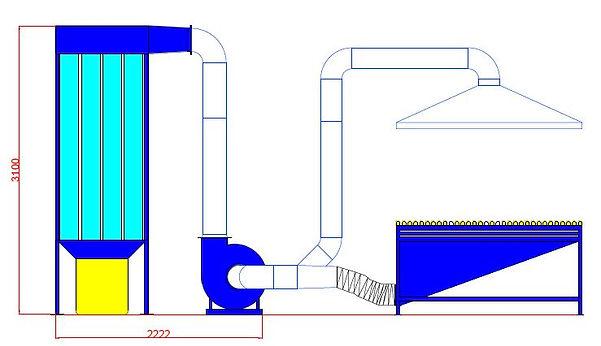 Шлифовальный участок с аспирацией ФР-4.J