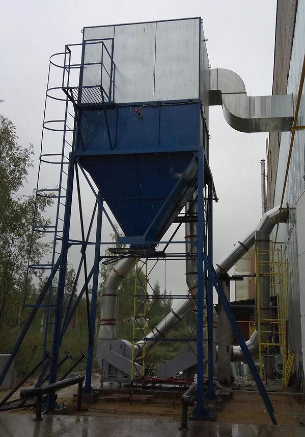 Аспирация для деревообработки. Рукавный фильтр с возвратом воздуха, пылевой вентилятор №8 37кВт, аспирационная установка, производство систем аспирации, системы аспирации, воздуховоды для аспирации, пылеотсос