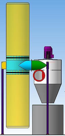 Система аспирации, вытяжка шлифовальной пыли, фильтр с циклоном, аспирационное оборудование, аспирационная установка