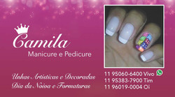 Cartão: Camila, Manicure e Pedicure