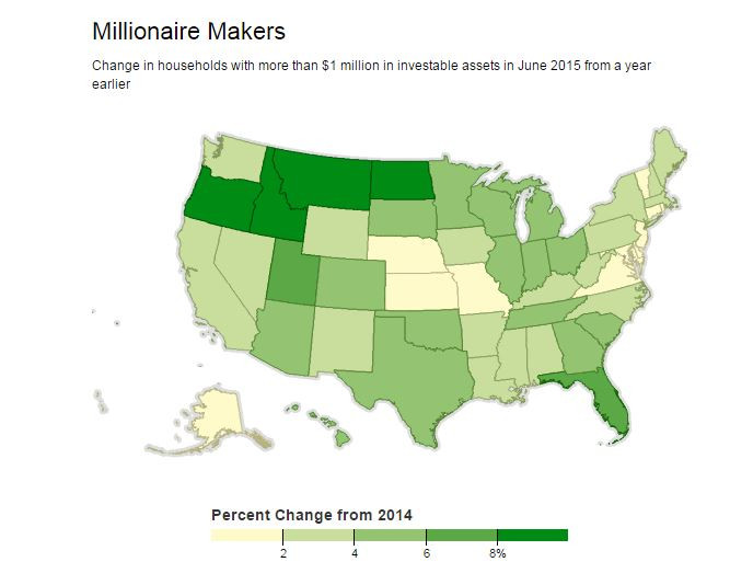 Where America's Millionaires Live (Increasingly, 'Mayberry')