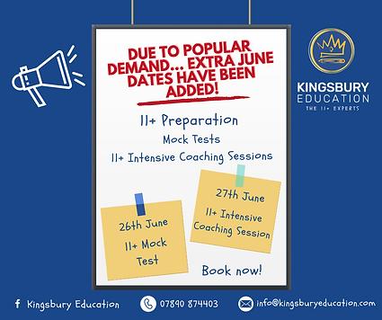 Extra June Intensive Coaching & Mocks 20