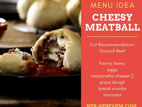 Cheesy Breaded Meatball