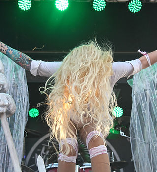 In This Moment performs at Fort Rock Fes