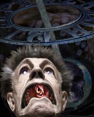 """Ilustración de Joseín Moros inspirada en el cuento de Francisco Arias, """"Necromicón"""""""
