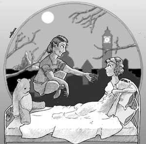 """Ilustración por William Trabacilo basada en la historia de """"El deseo"""" de Hernán Domínguez Nimo"""