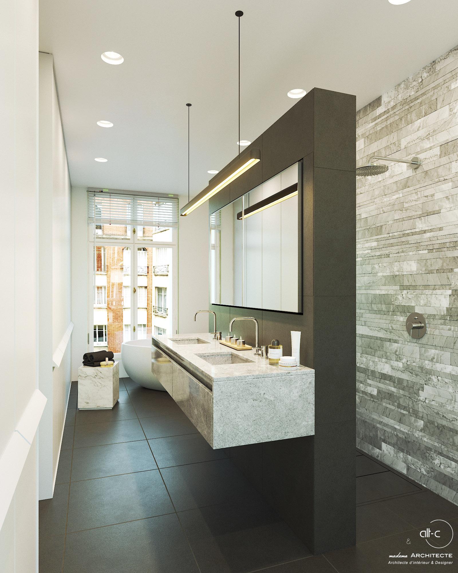 Salle de bain Double douche