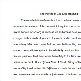 'THE PSYCHE OF THE LITTLE MERMAID' ACADEMIC PAPER