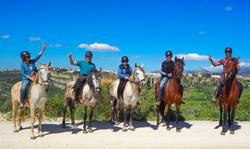 Ruta a caballo hasta el mirador