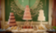 Vintage wedding cakes and dessert table