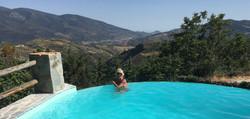 La piscina infinity vistas de Africa