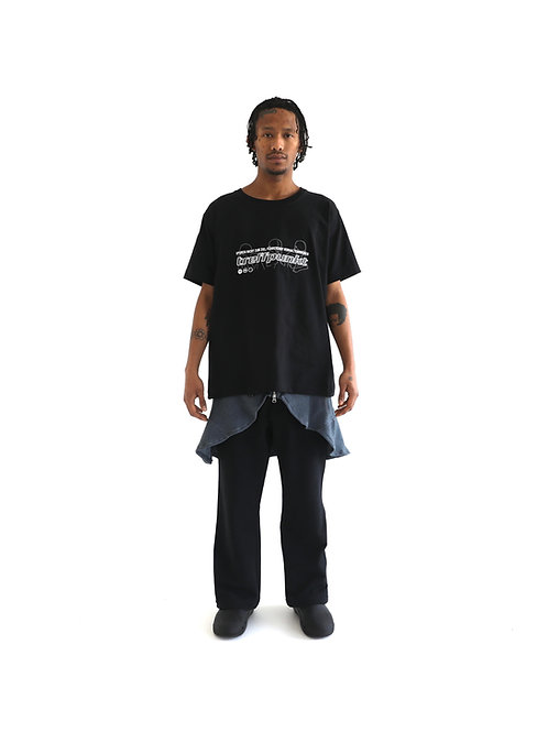 GRAPHIC EMBROIDERY T-SHIRT / JET BLACK